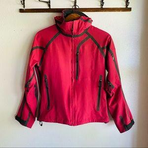 Mountain Hardwear // Pink Hooded Waterproof Jacket